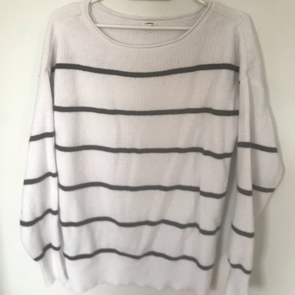Garage Sweaters - White and Black Sweater